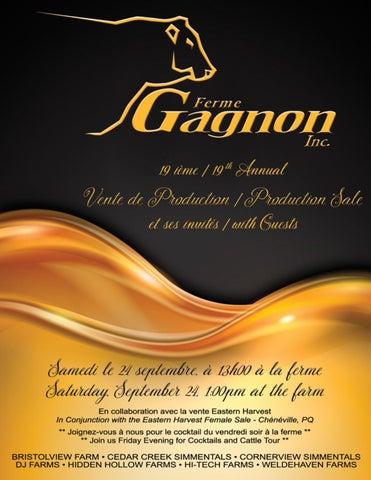 825928715faecc Ferme Gagnon 19th Annual Production Sale by Bohrson Marketing ...