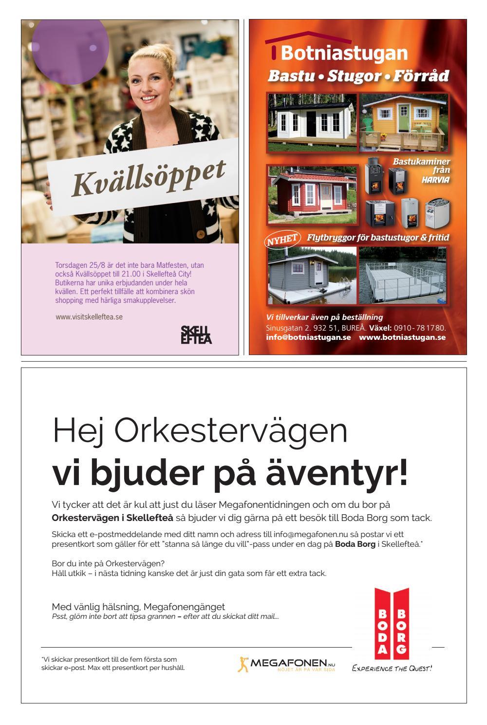 Megafonentidningen nr 7 2016 by Nöjesmegafonen i Skellefteå AB - issuu