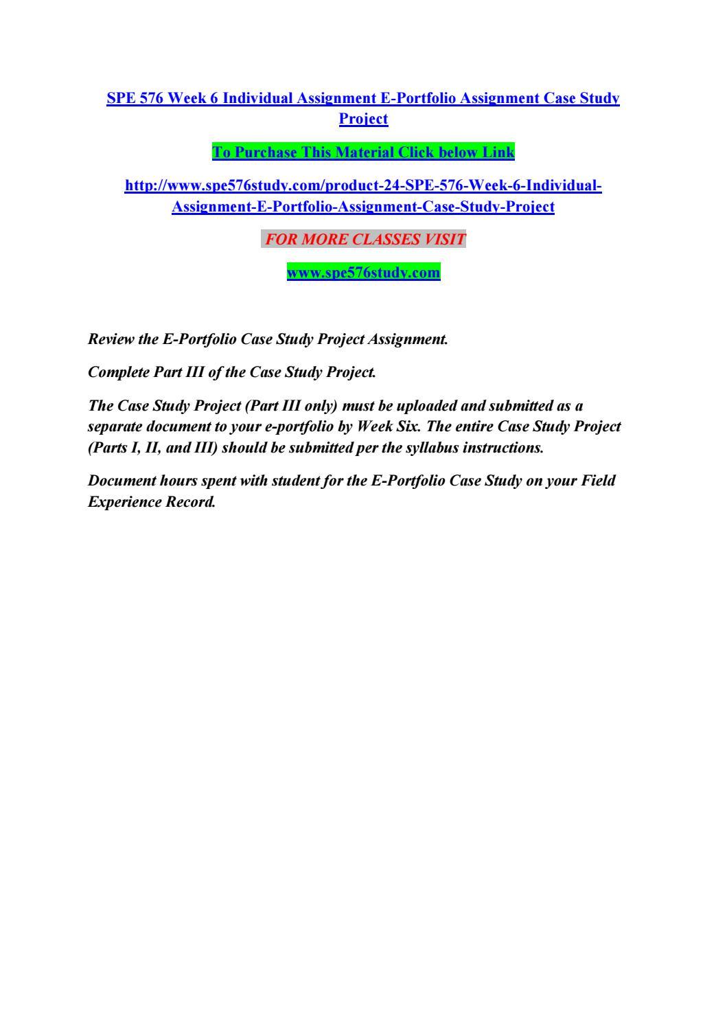 Case assignment 6