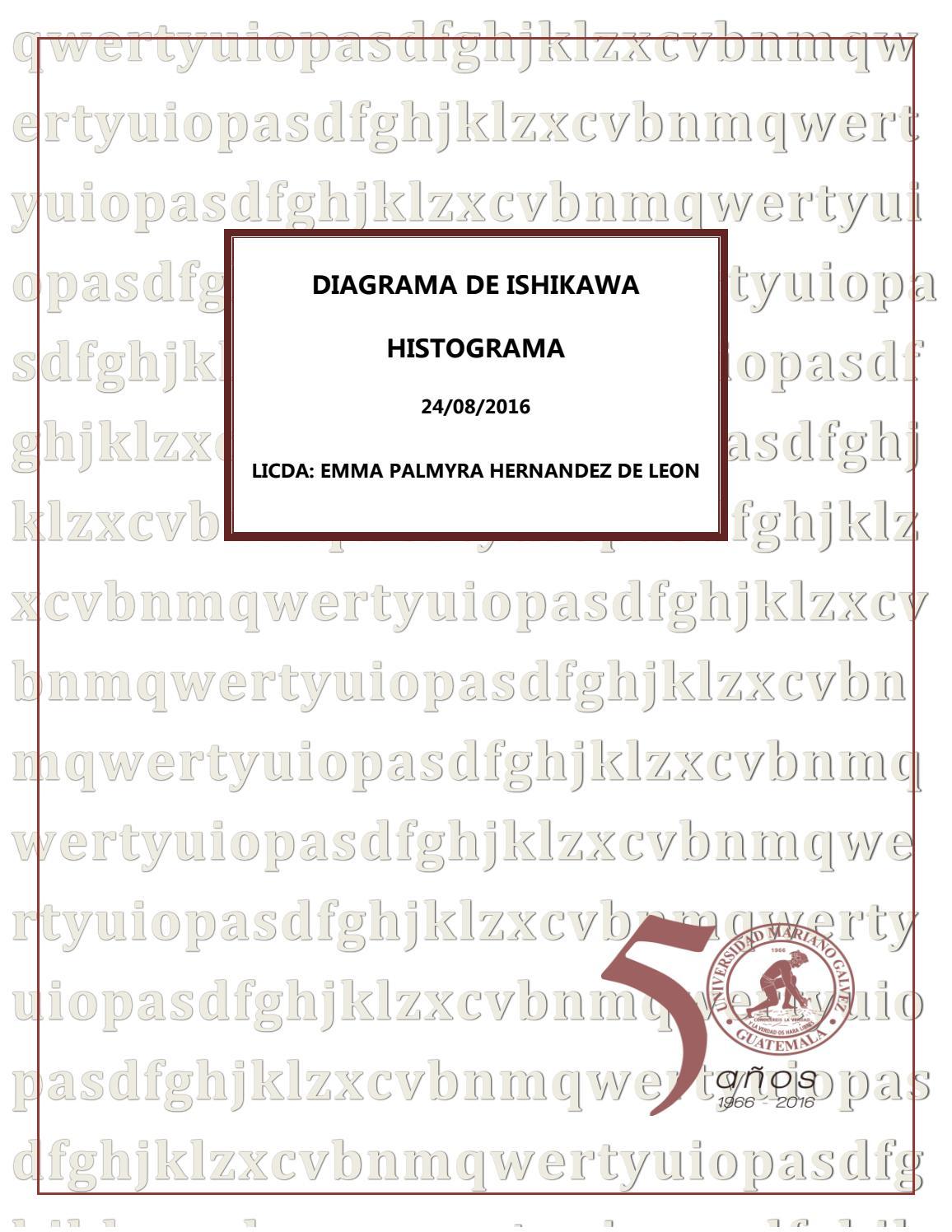 Diagrama de ishikawa y histograma by Palmyrita Hernández - issuu