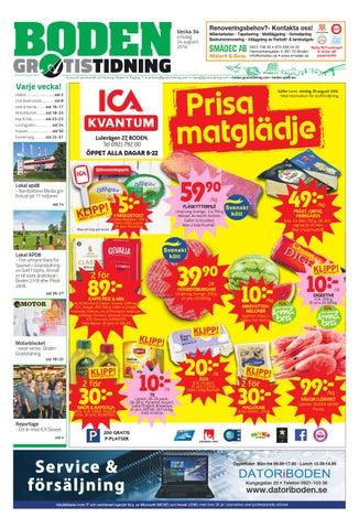 on sale a1b03 405a2 Boden Gratistidning med Lakkapää bilaga by Svenska Civildatalogerna ...