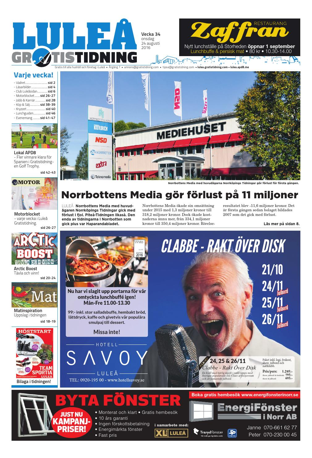 huge discount 58cd4 af848 Luleå Gratistidning med Team Sportia bilaga by Svenska Civildatalogerna AB  - issuu