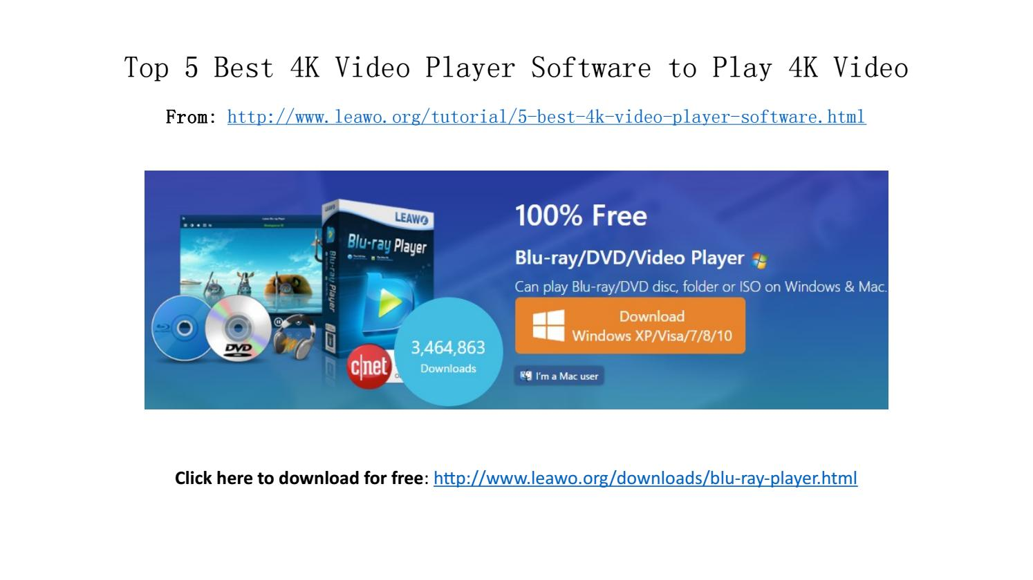 4k video player for windows 10 free download