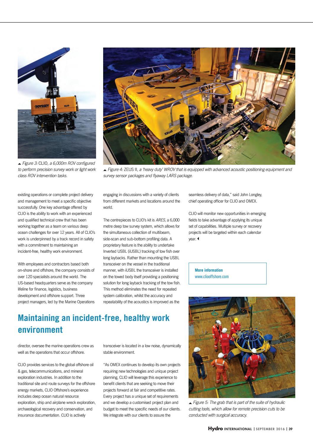 Hydro international september 2016 by Geomares Publishing