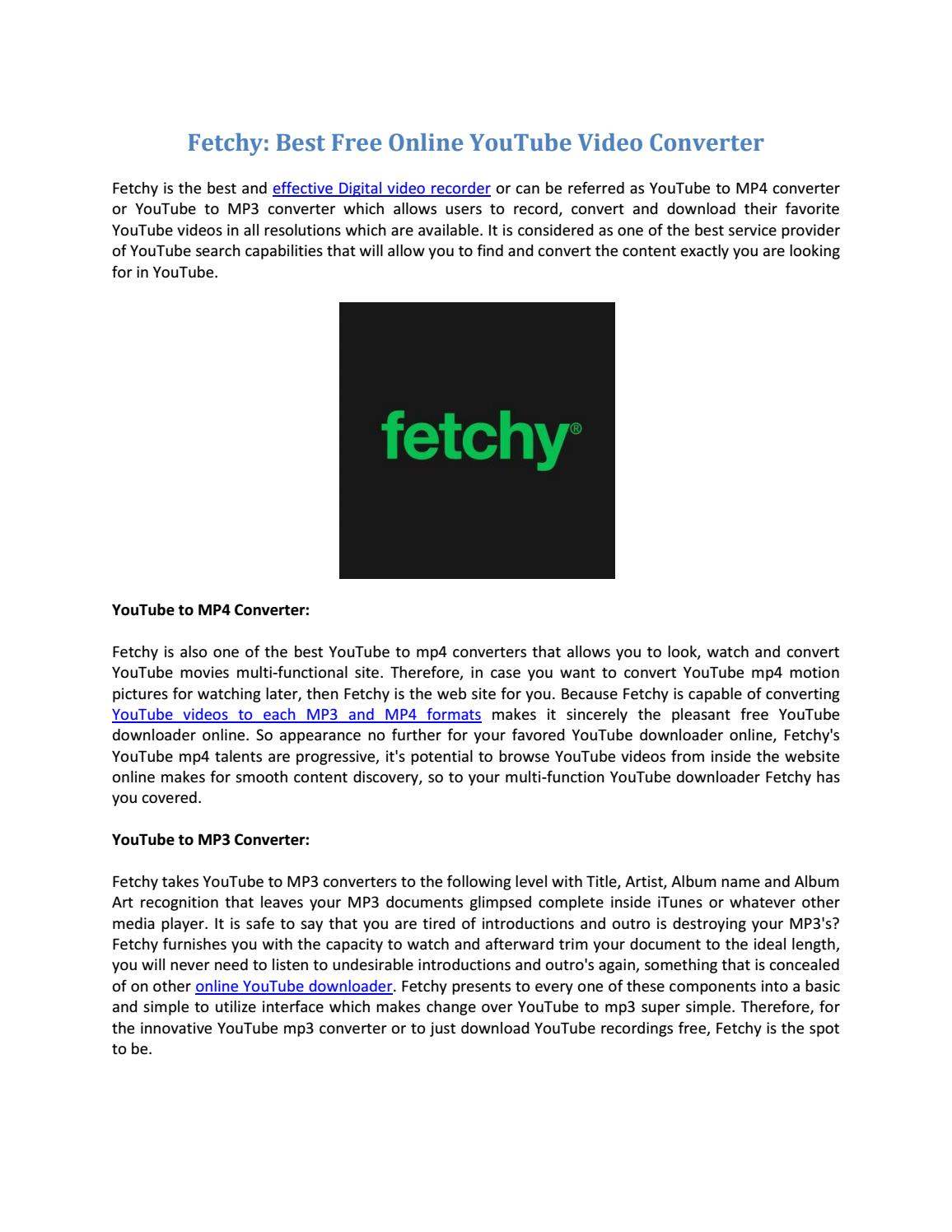 Youtube Best Makeup Tutorial: Fetchy: Best Free Online YouTube Video Converter By Fetchy