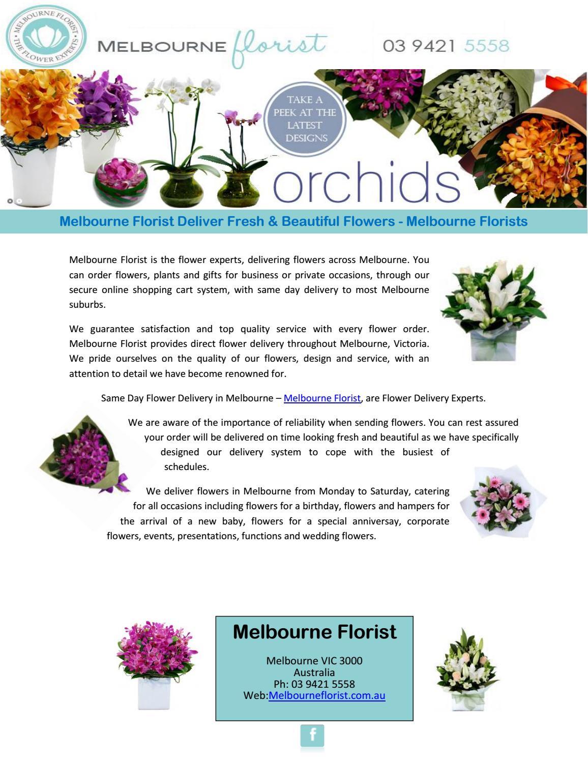 Melbourne Florist Deliver Fresh