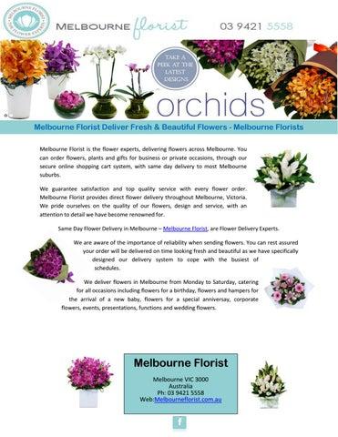 Melbourne Florist Deliver Fresh Beautiful Flowers