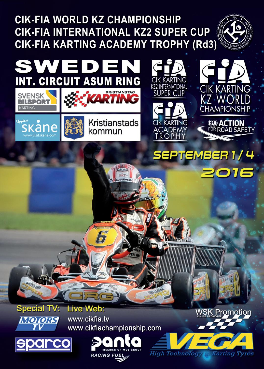 Cik Fia World Championship Sweden By Wsk Promotion Issuu