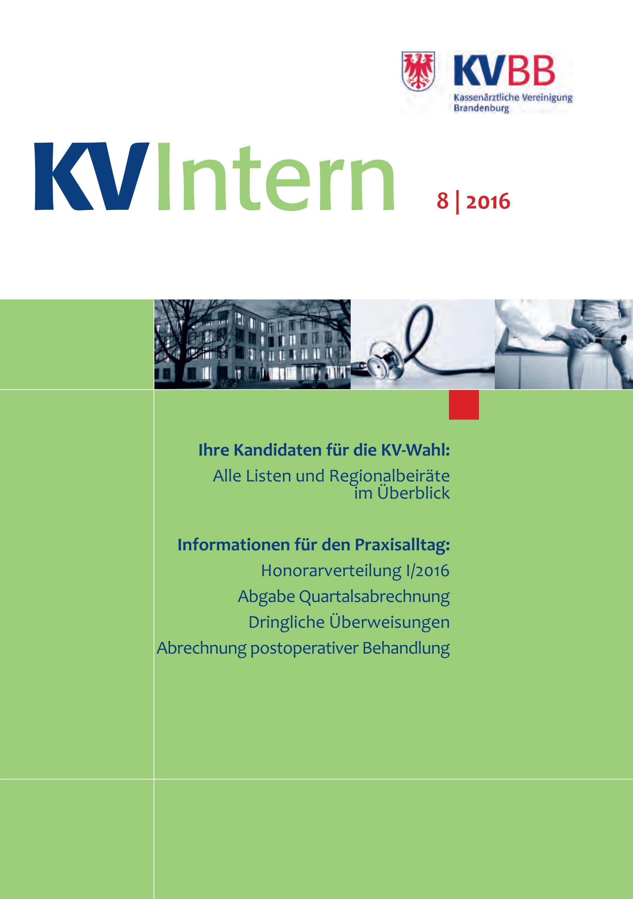 kv intern 08 2016 by kassen rztliche vereinigung brandenburg issuu. Black Bedroom Furniture Sets. Home Design Ideas