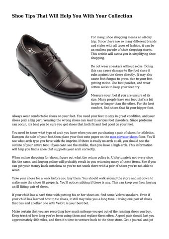 Page 1. Shoe Tips That Will ...