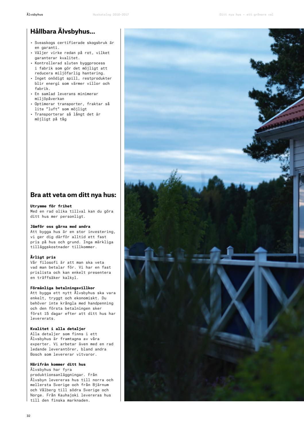 Inredning kalkyl bygga hus : Älvsbyhus Huskatalog 2016-2017 by Älvsbyhus - issuu