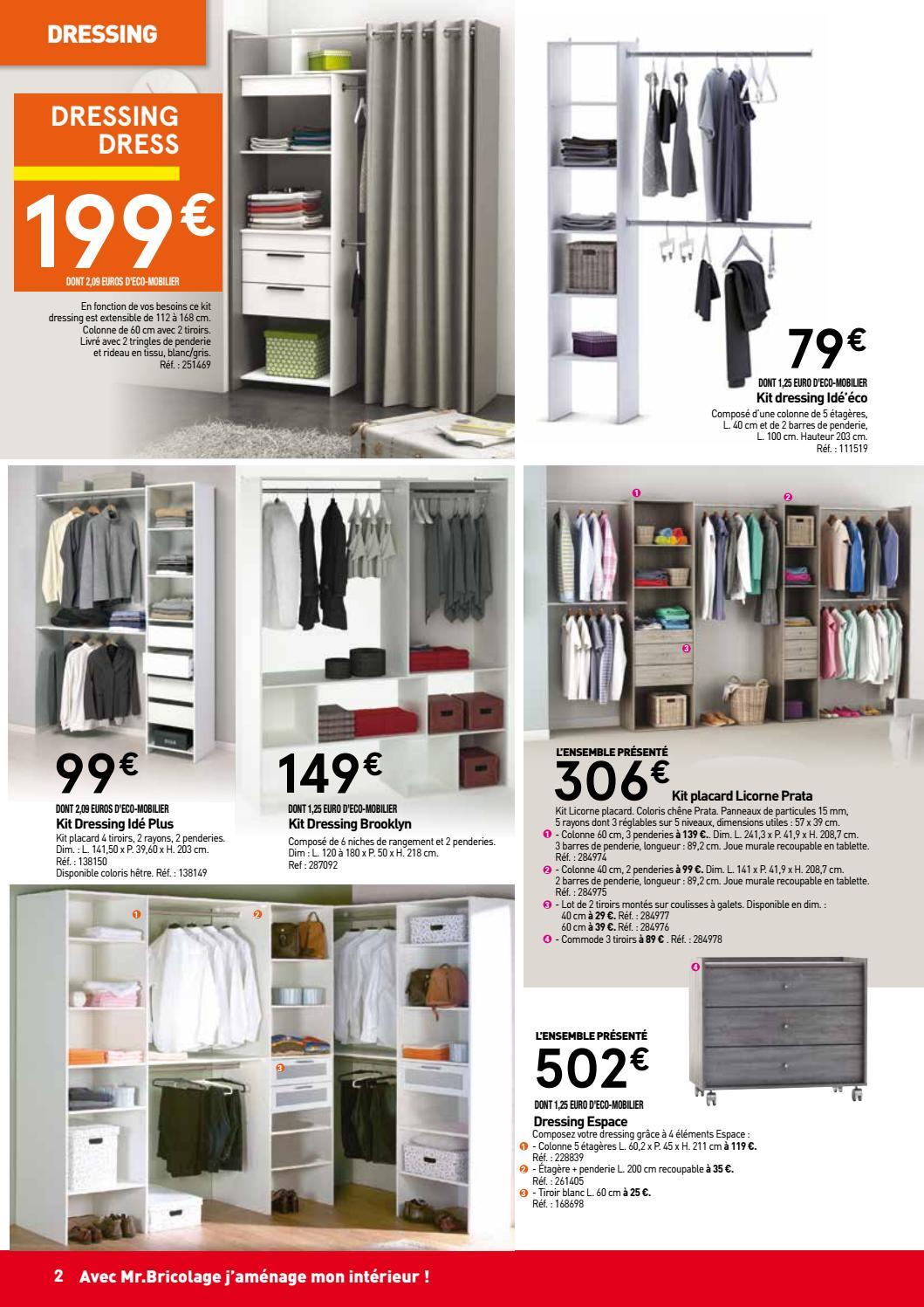 Penderie mr bricolage armoire dressing sur mesure - Porte coulissante entrepot du bricolage ...