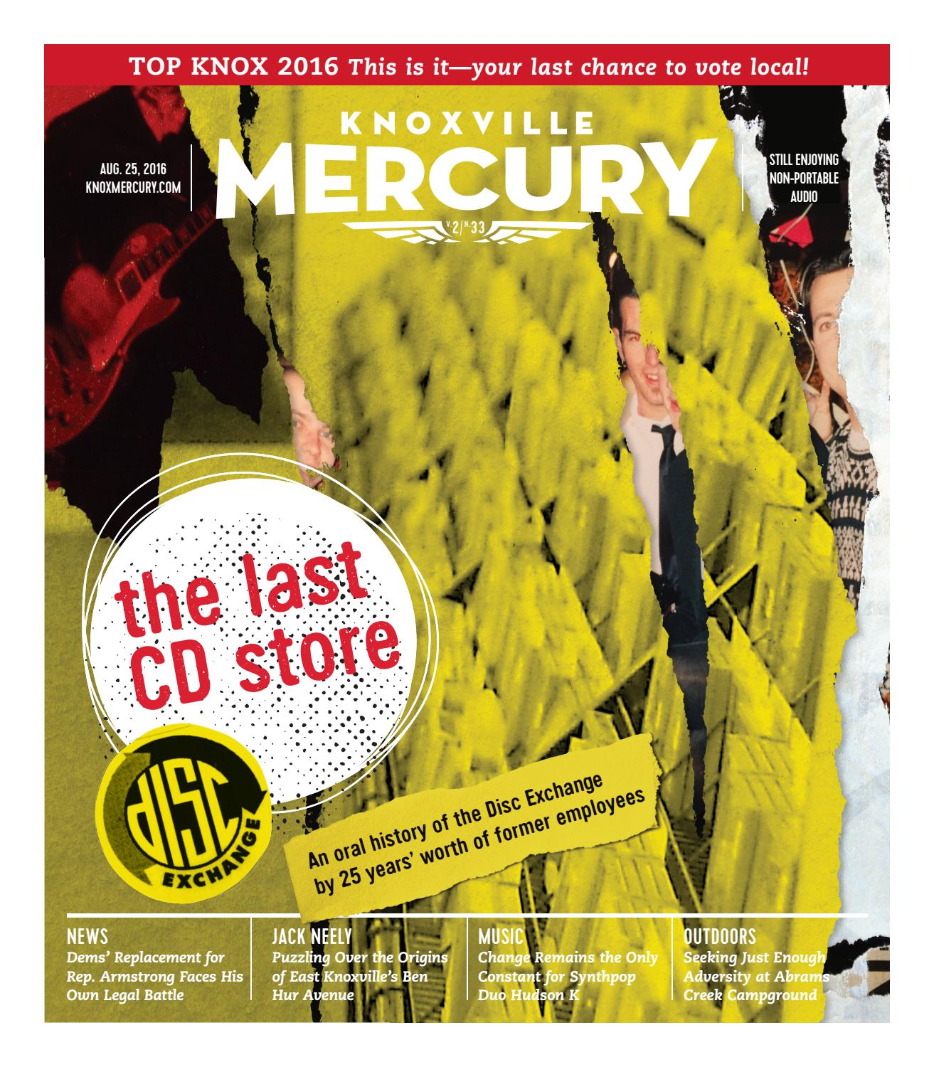 Vol  2, Issue 33 - Aug  25, 2016 by Knoxville Mercury - issuu