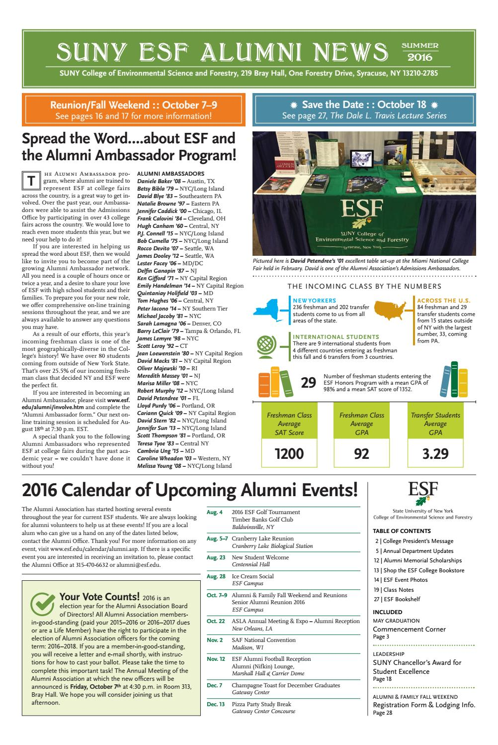 f4b106f0ccb ESF Alumni News - Summer 2016 by SUNY-ESF - issuu