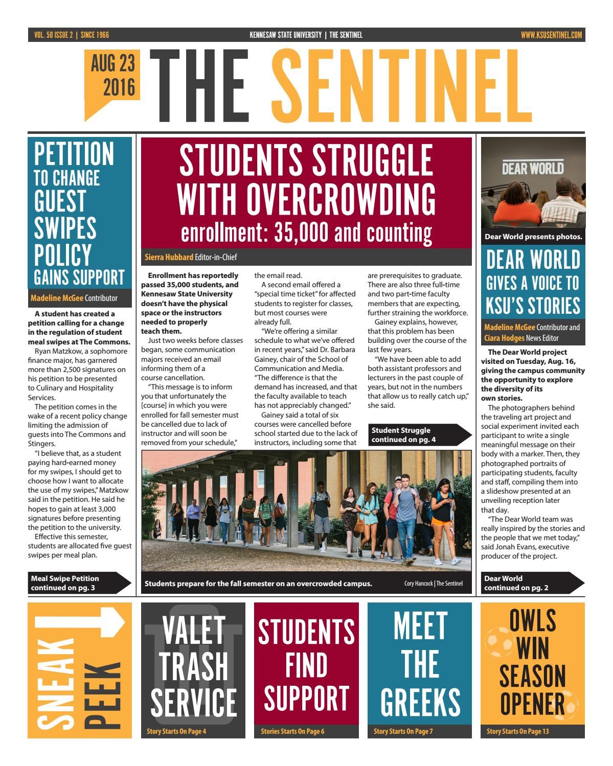 August 23, 2016 Ksu Sentinel By Kennesaw State Issuu How To Calculate Gpa