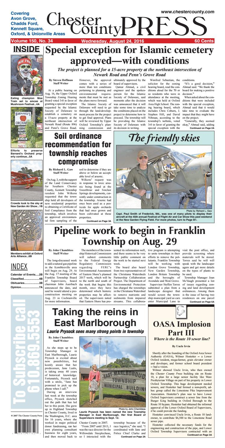 Chester County Press 08-24-2016 Edition by Ad Pro Inc  - issuu