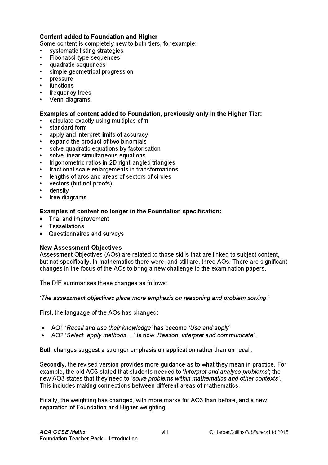 AQA Maths GCSE Foundation Teacher Pack by Collins - issuu