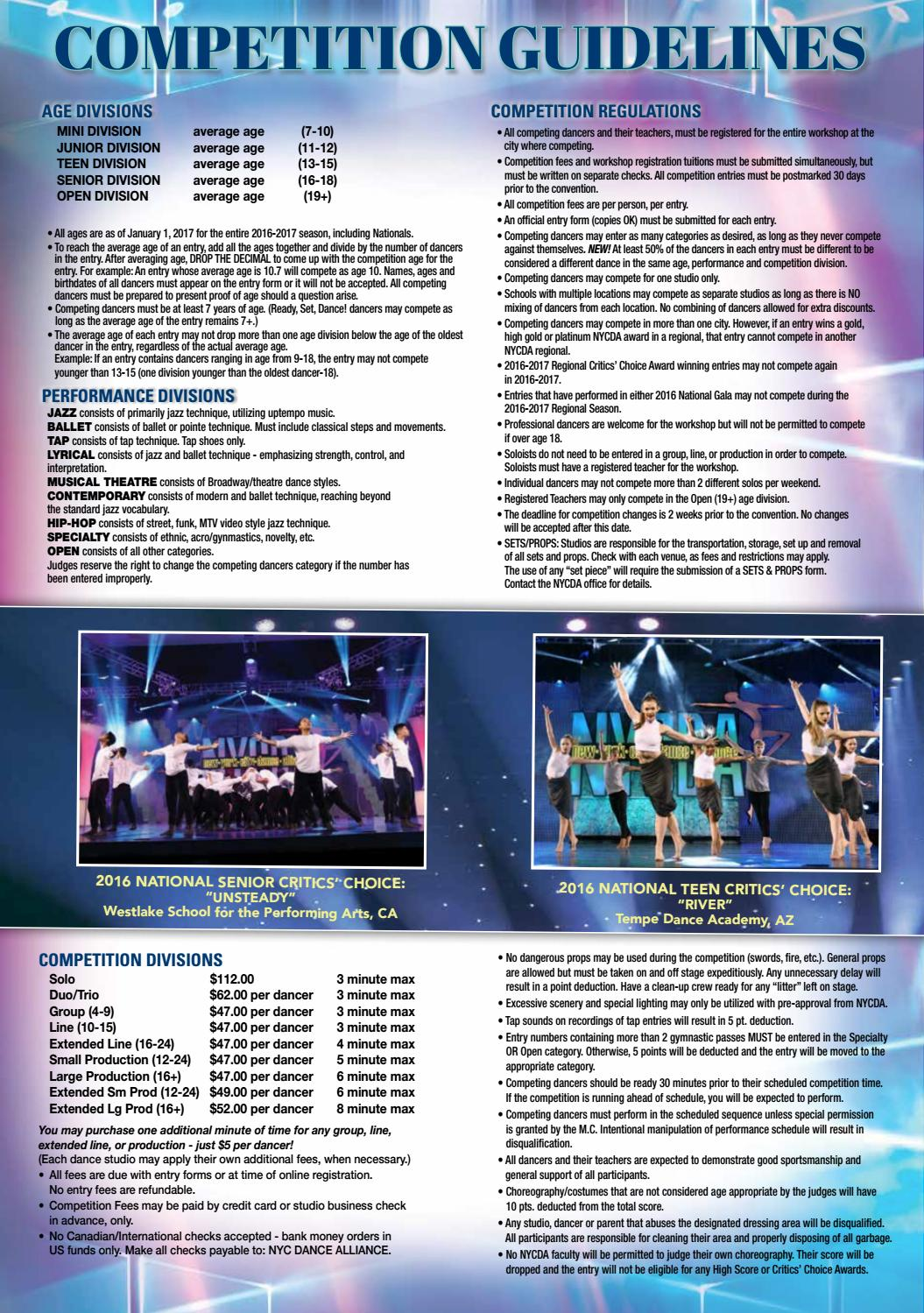 NYCDA 2016-17 Magazine by Diane Rose - issuu