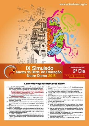 Ix simulado enem rede de educao notre dame prova ii by assecom page 1 ccuart Gallery