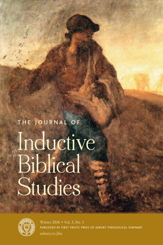 The Journal Of Inductive Biblical Studies By First Fruits Press Issuu
