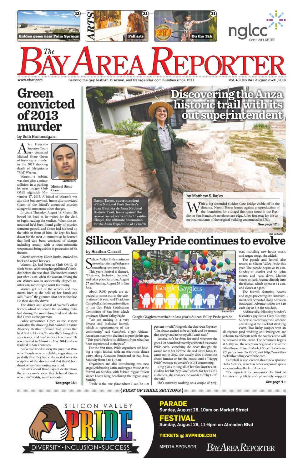 Bay Area Reporter : August edition of the bay area reporter by