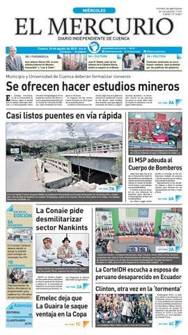 edecb9a41cf2 hemeroteca 24-08-2016 by Diario El Mercurio Cuenca - issuu