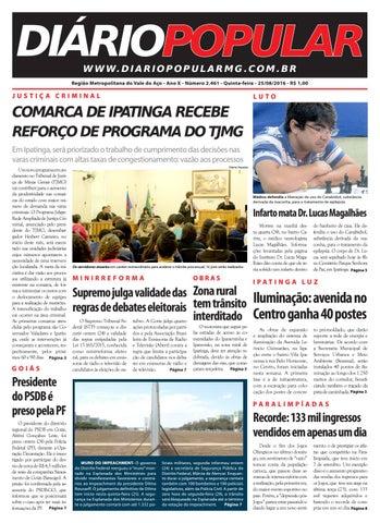 25 08 2016 by Jornal Diário Popular - issuu d7892f02c1ecf