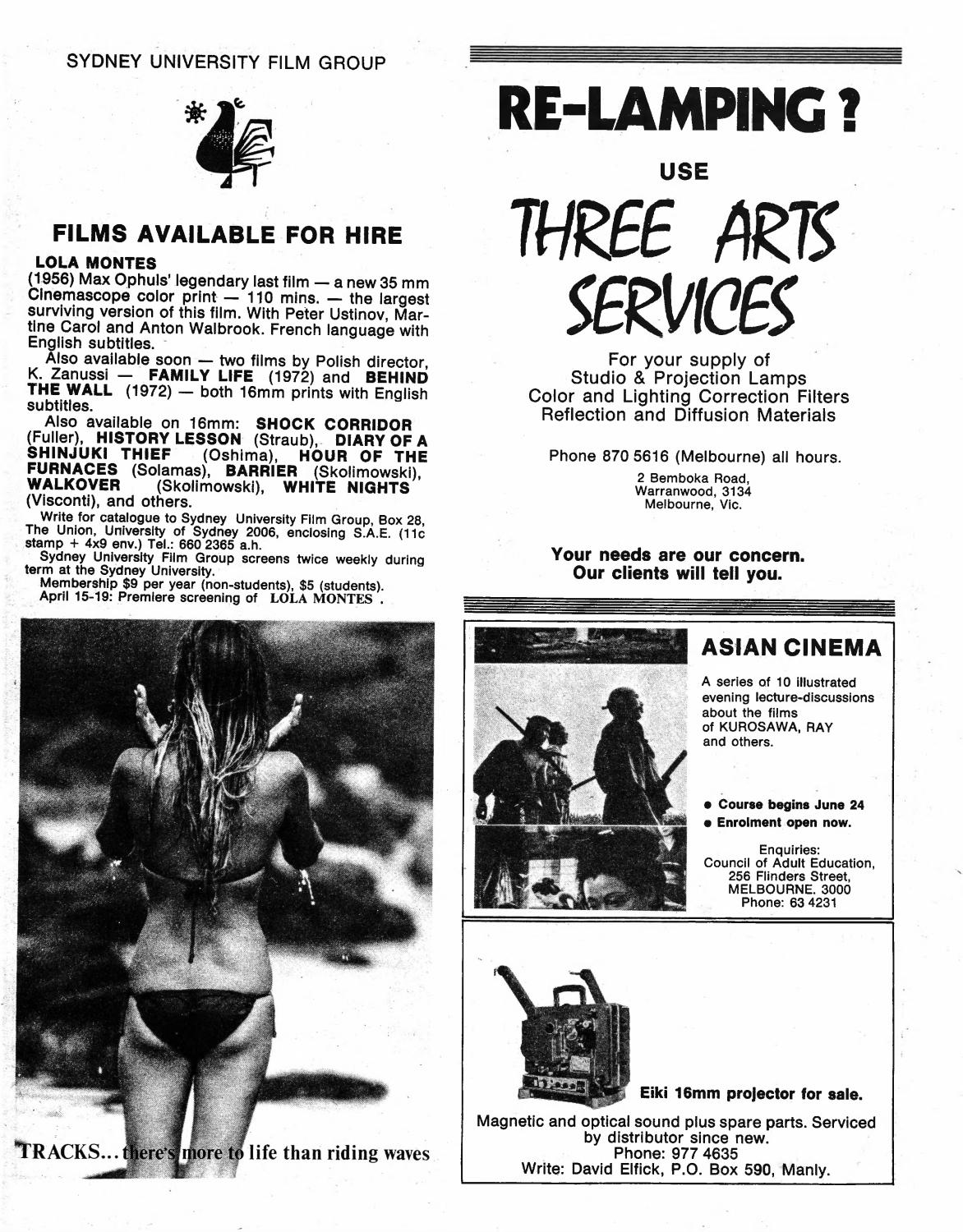 Cinema Papers March 1975 by UOW Library - issuu