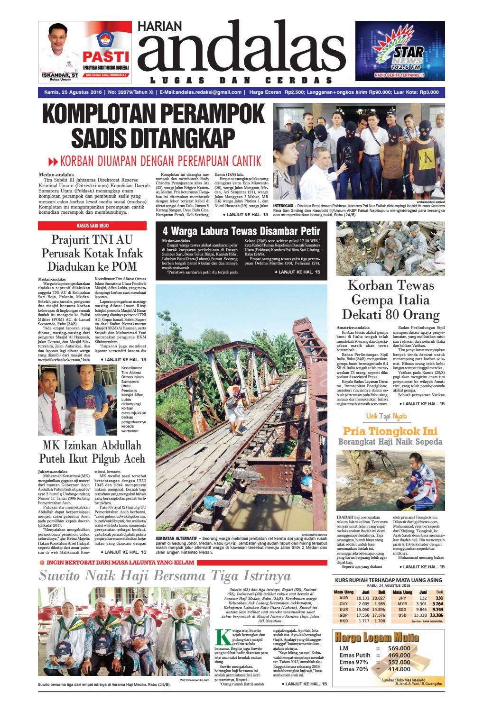 Epaper Andalas Edisi Kamis 2 Februari 2017 By Media Issuu Fcenter Lemari Pakaian Wd Hk 1802 Sh Jawa Tengah 25 Agustus 2016