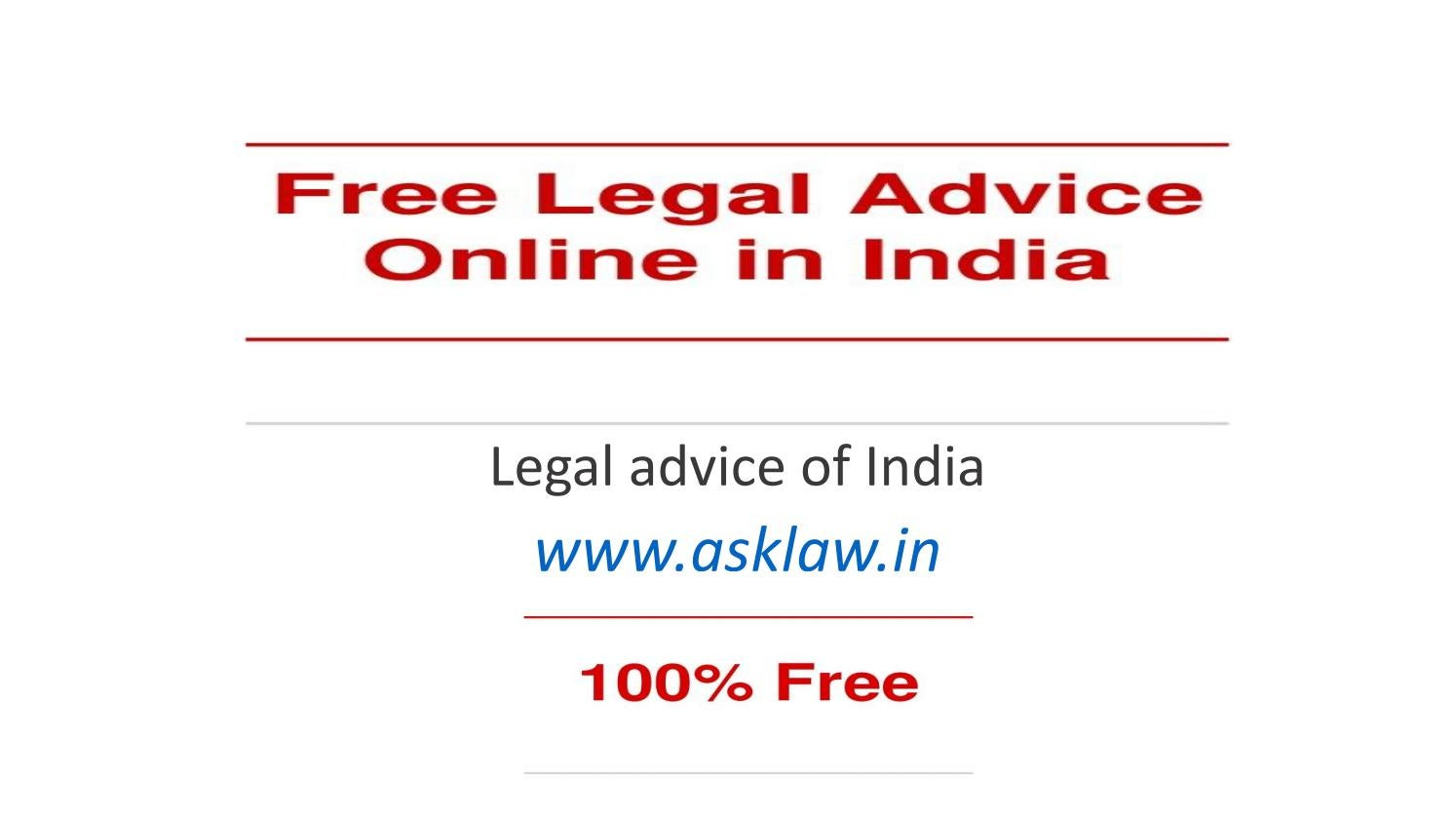 free online legal advice in india