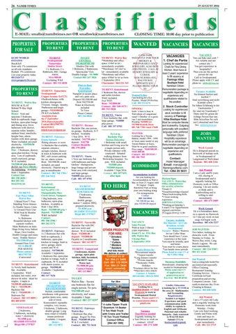25 august namib times e edition by Namib Times Virtual - issuu