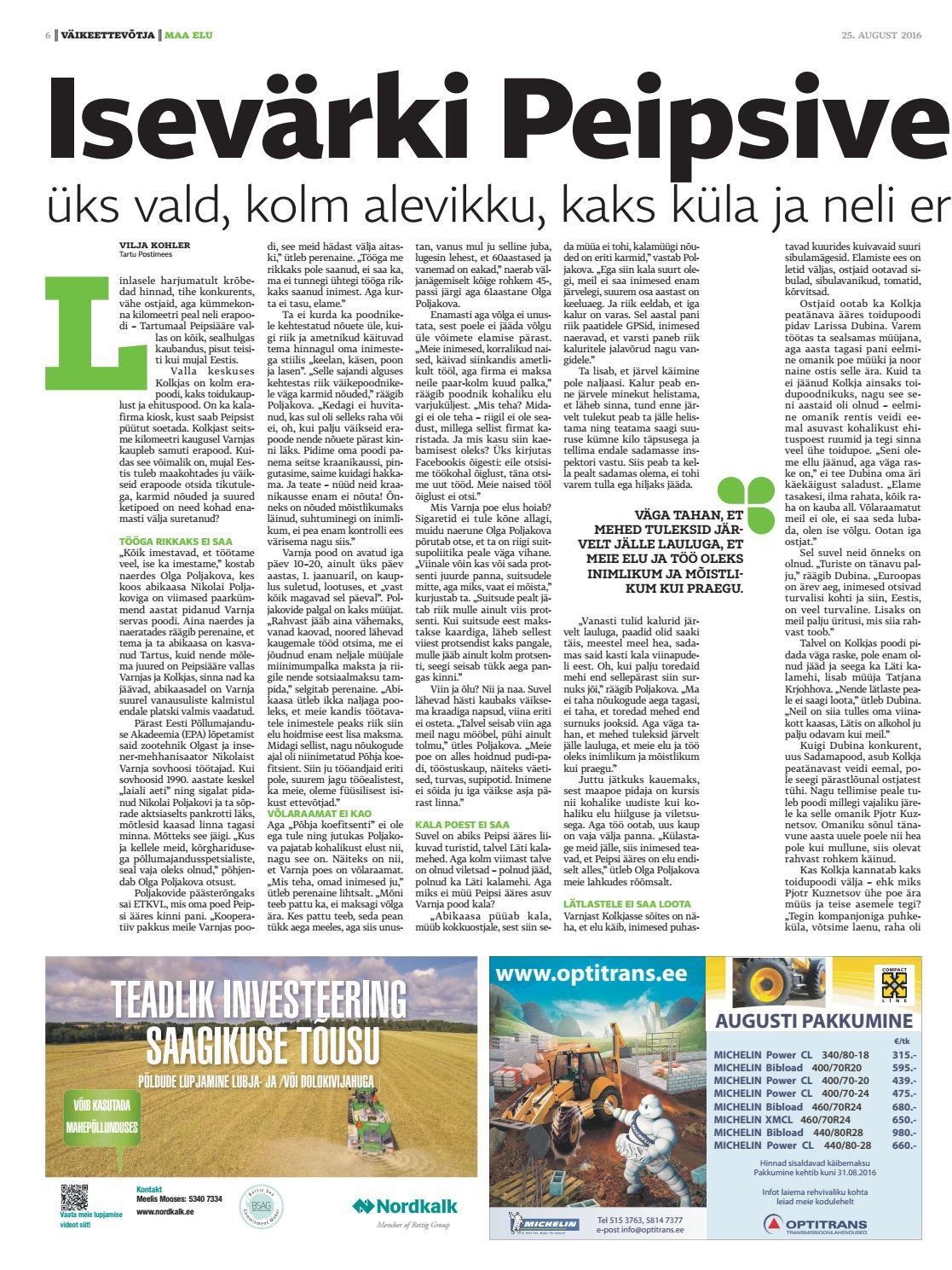 97df44bc482 Maa Elu 25. august 2016 by AS Eesti Meedia - issuu