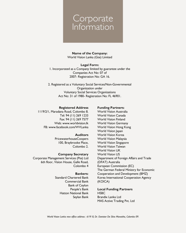 World Vision Lanka Annual Review 2015 by Kalawa Group - issuu