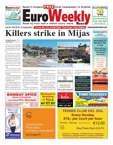 Euro Weekly News Costa Del Sol 25 31 August 2016 Issue 1625 By
