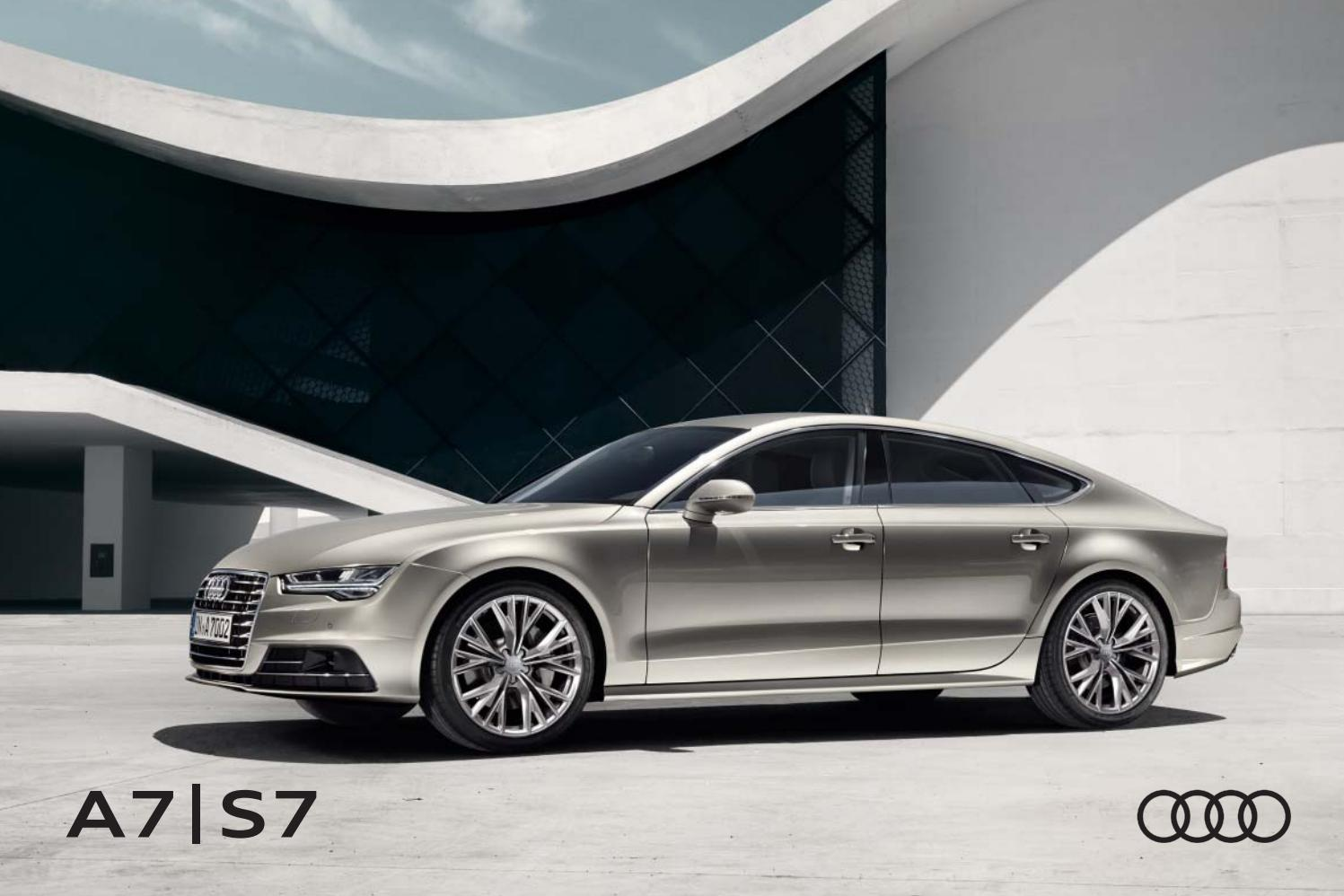 Audi A7 ja Audi S7 -esite 4/2016 by Avidly Agency - issuu