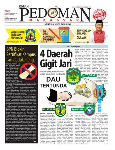 Edisi 29 25 Agustus 2016 Pedoman Makassar By Pedoman Makassar Issuu