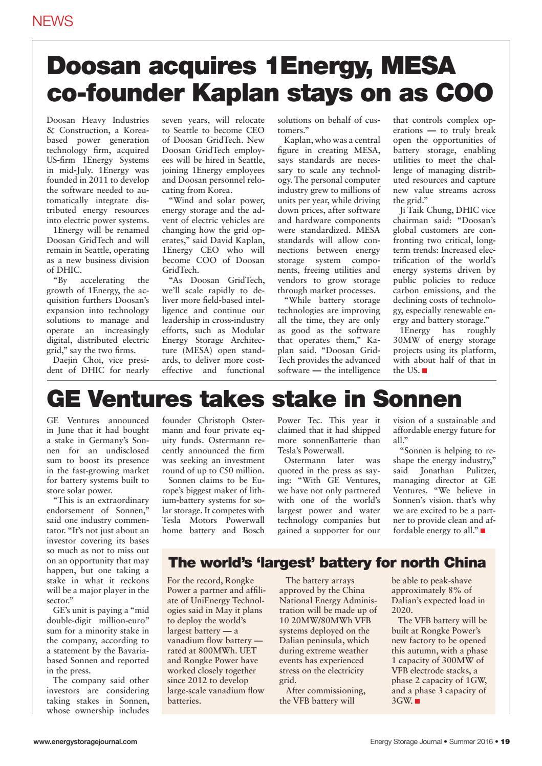 Energy Storage Journal – Issue 13 Summer by hamptonhalls - issuu