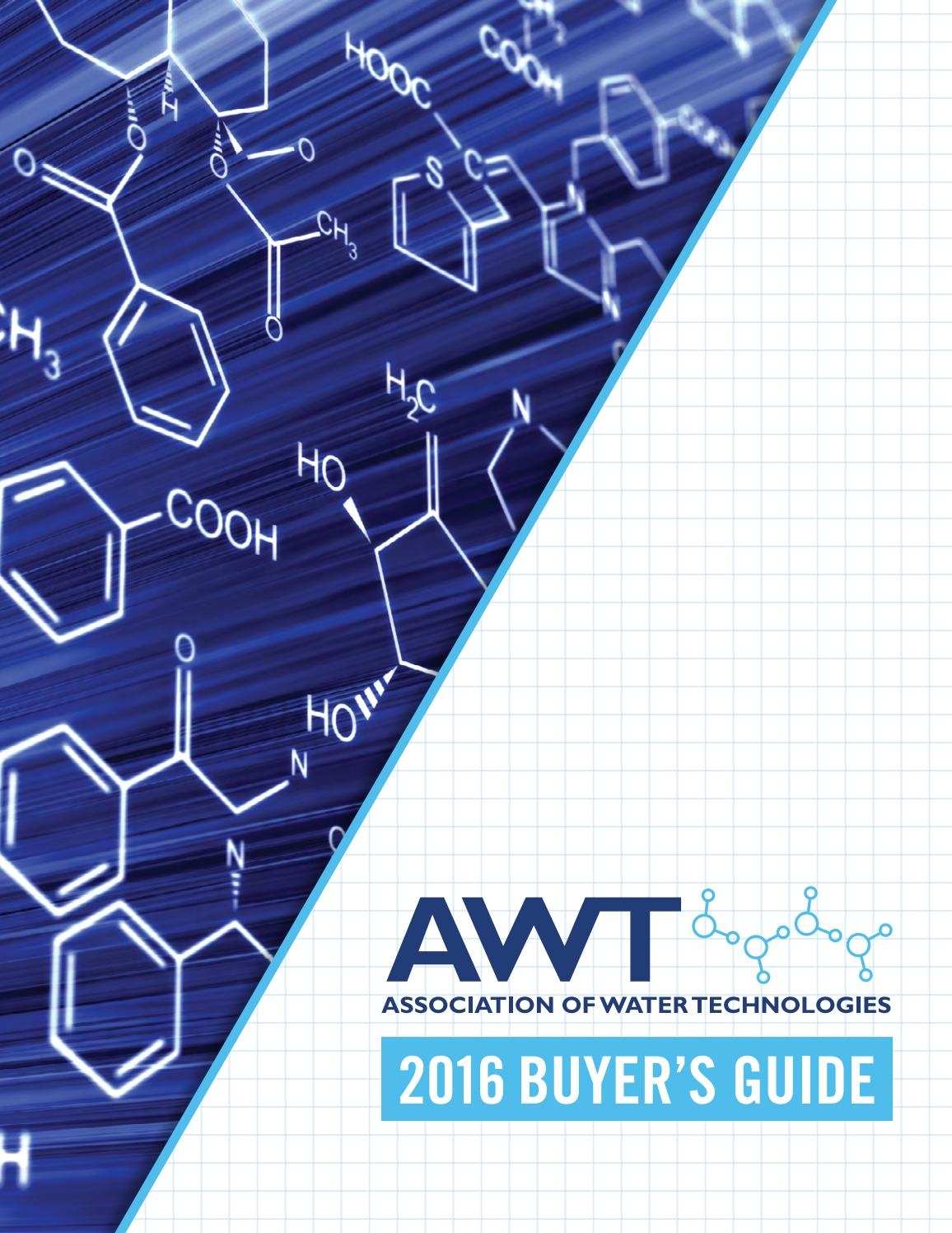 AWT Buyer's Guide 2016 by Association of Water Technologies