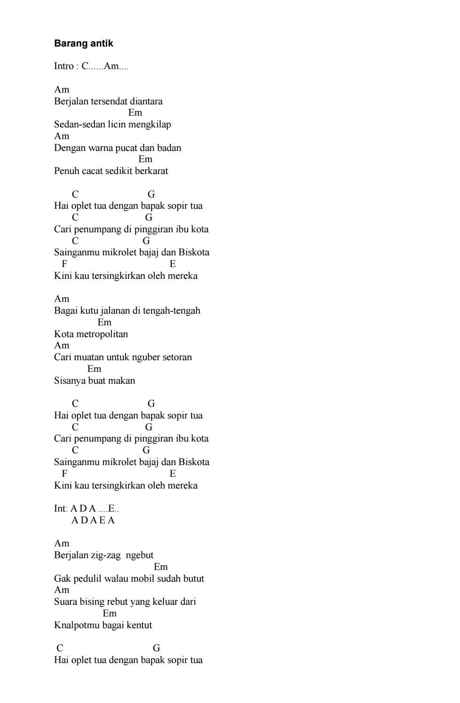 Kumpulan Chord Gitar Iwan Fals By Joe Satria Issuu