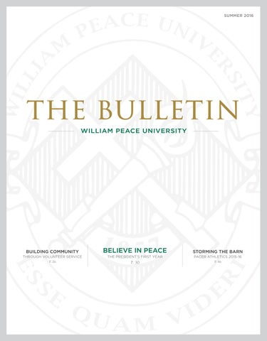 The bulletin summer 2016 by william peace university issuu summer 2016 fandeluxe Images