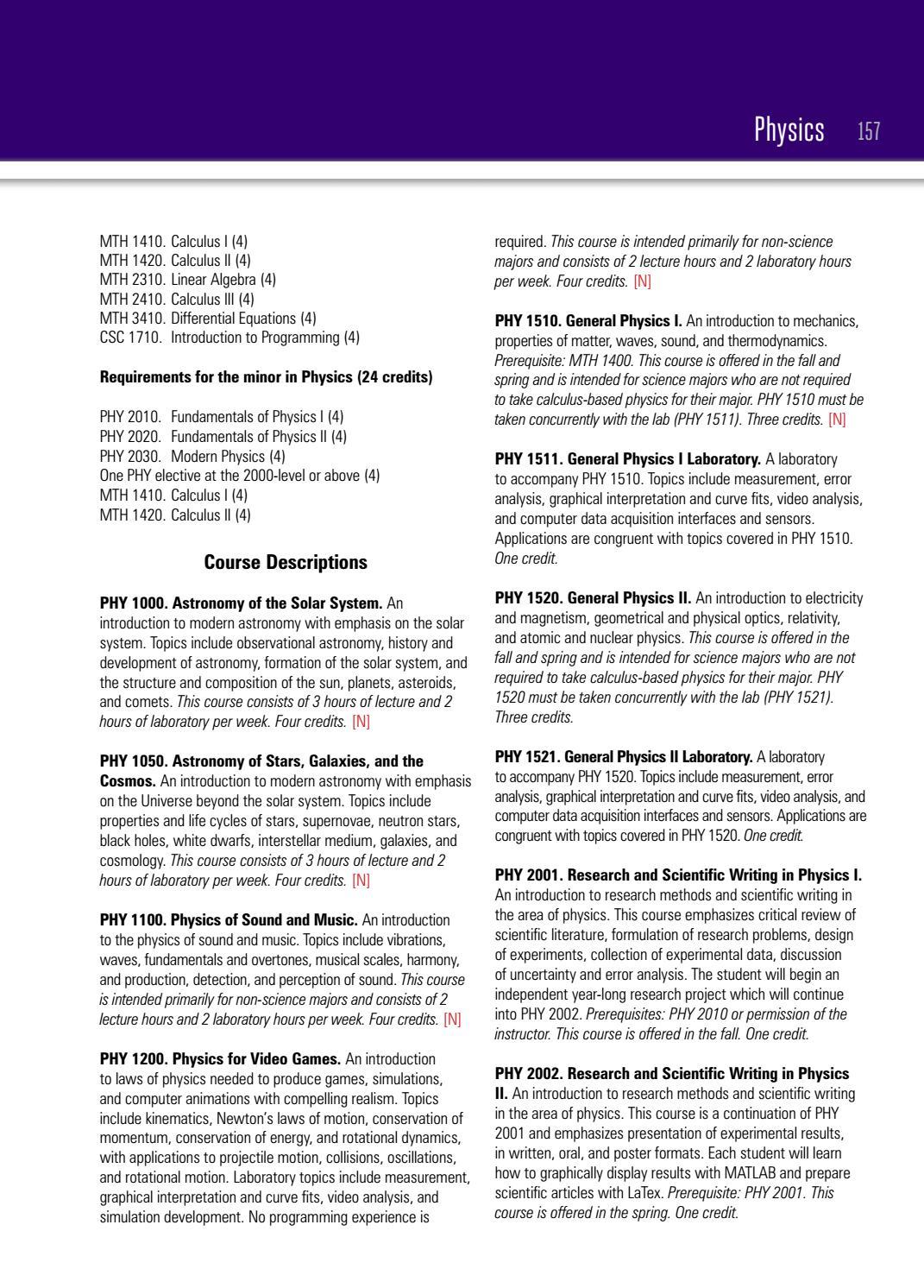 Undergraduate Bulletin 2016 2017 by High Point University