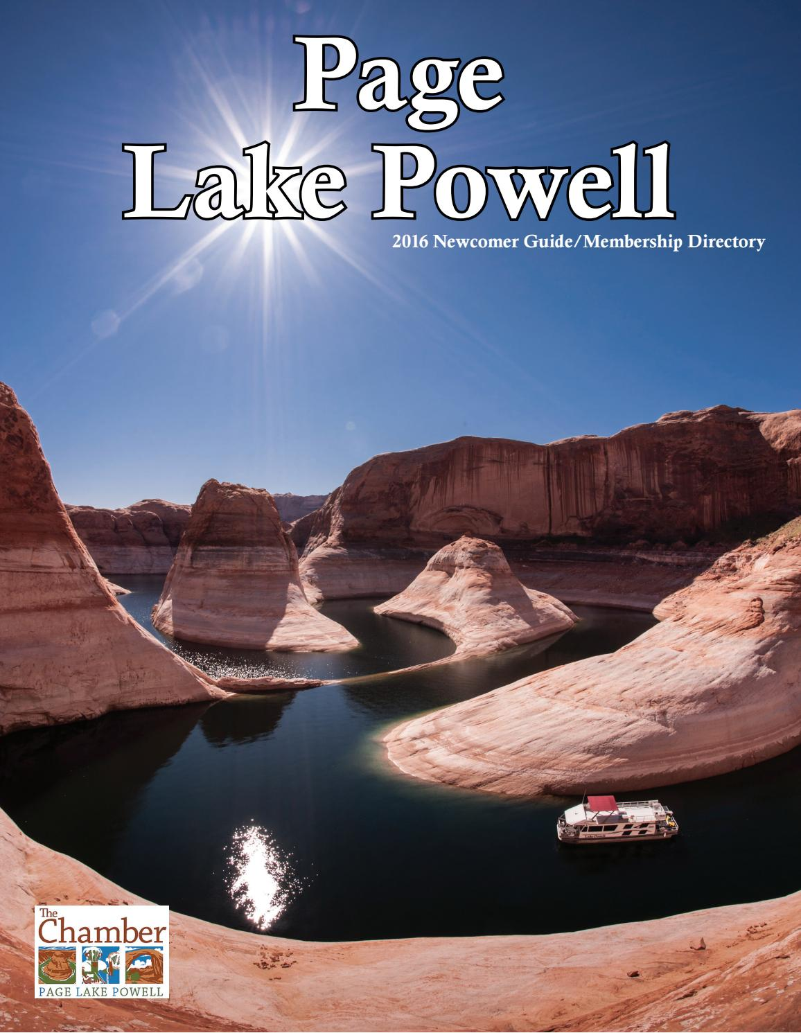 2016 The Chamber Page Lake Powell Membership Directory