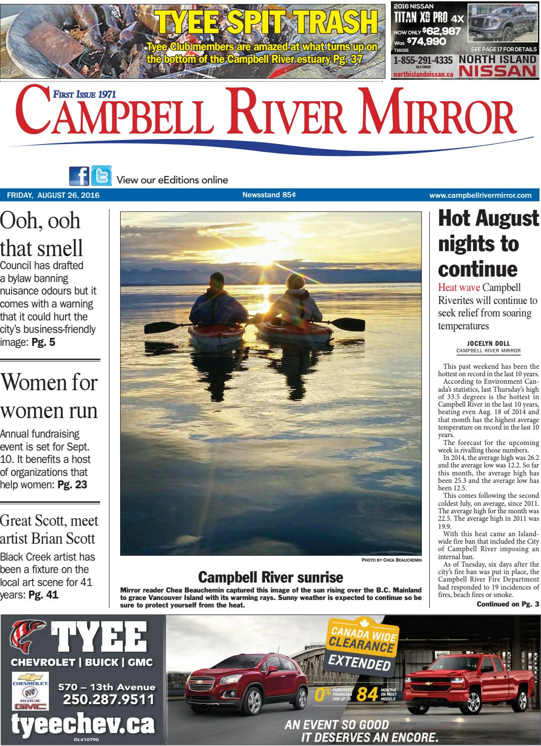 Campbell River Mirror August 26 2016 By Black Press Media