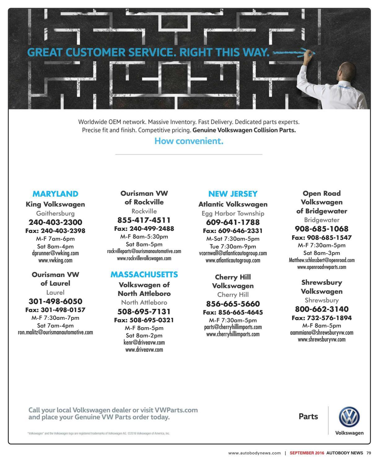 Ourisman VW Rockville >> Northeastern September 2016 Issue By Autobody News Issuu
