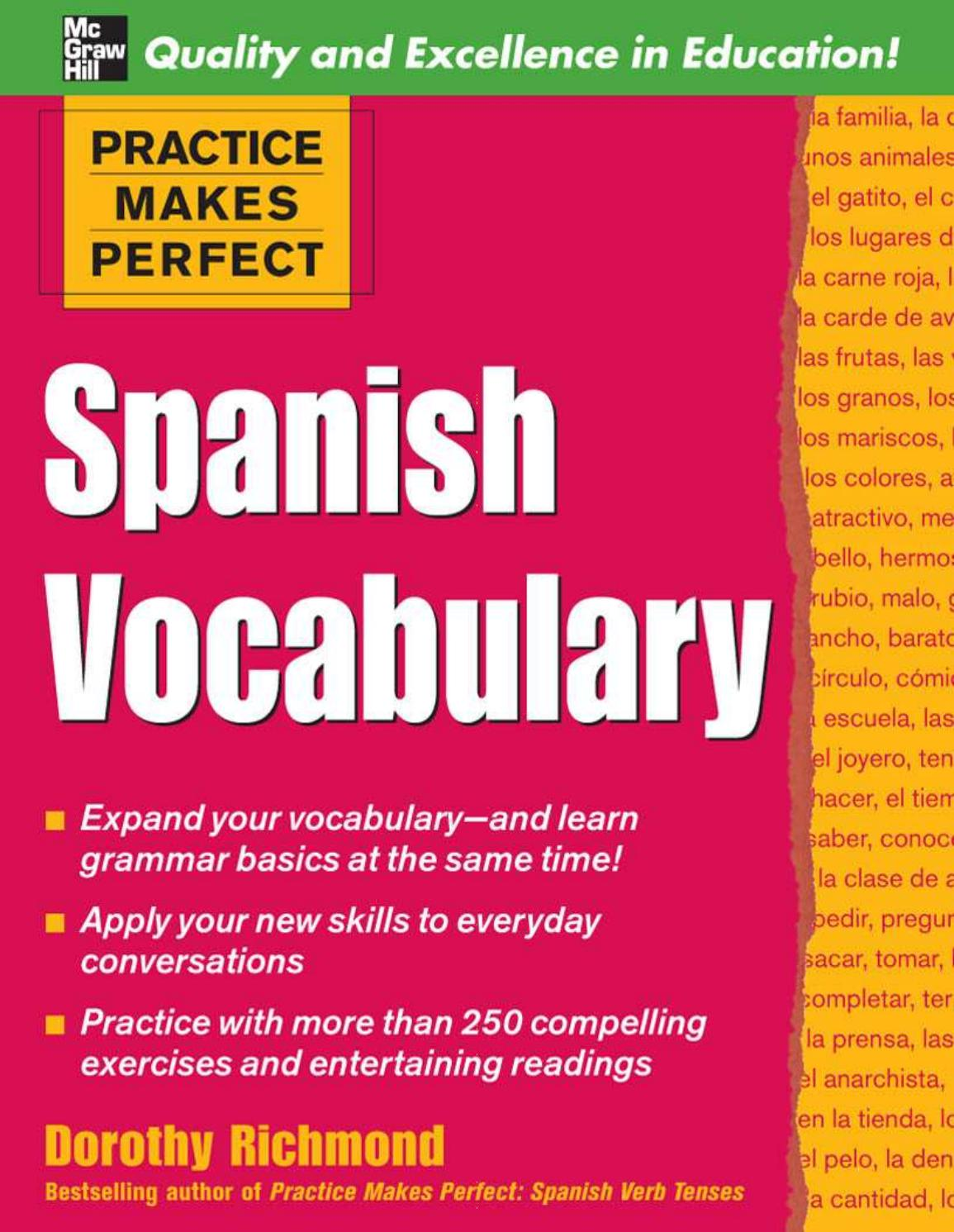 Practice makes perfect spanish vocabulary by Lei Xue - issuu