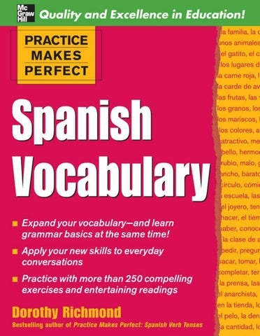 the best attitude e8434 3b130 Practice makes perfect spanish vocabulary by Lei Xue - issuu