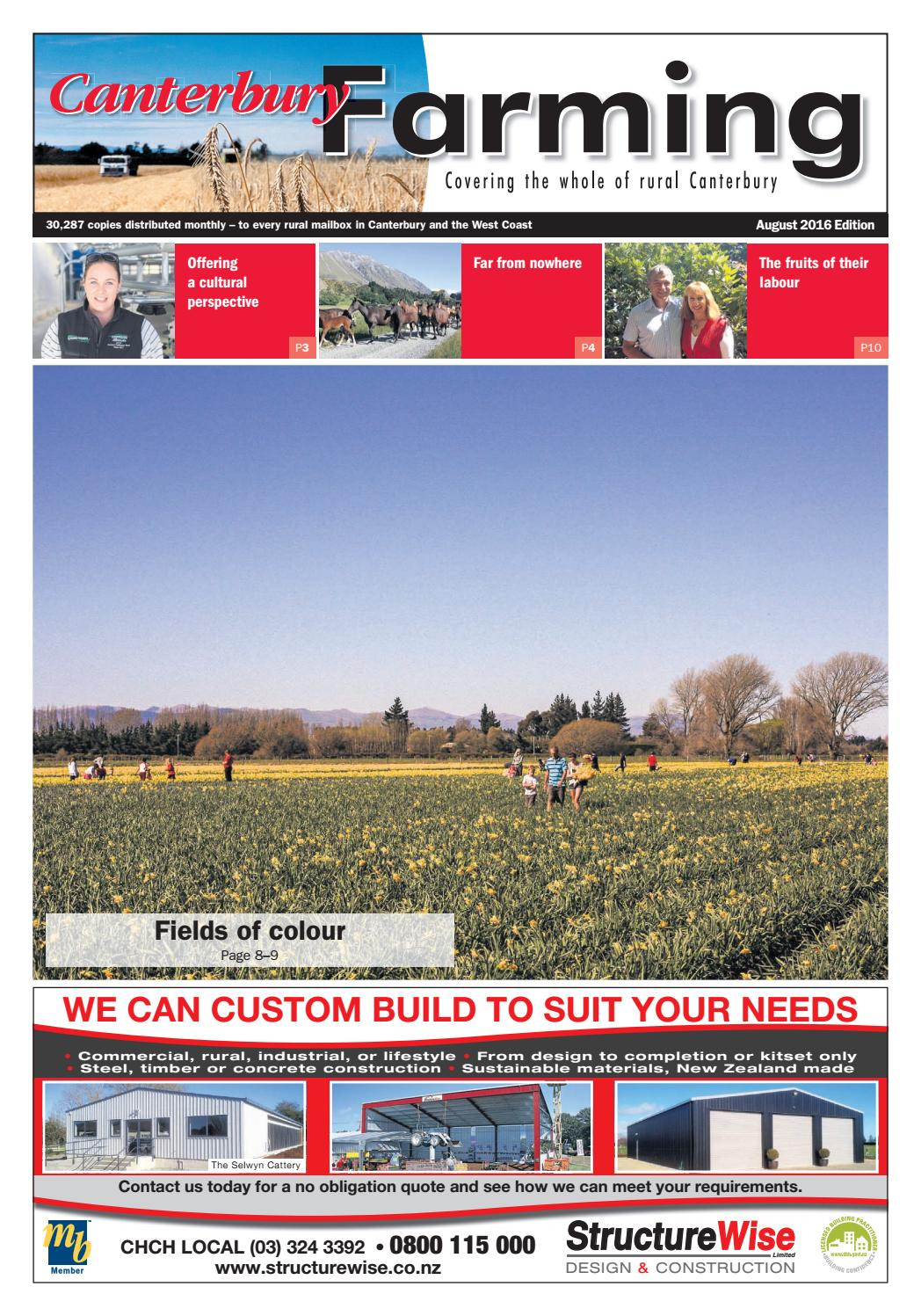 Canterbury Farming August 2016 By Integrity Community Media Issuu Reece Wiring Harness Toyota