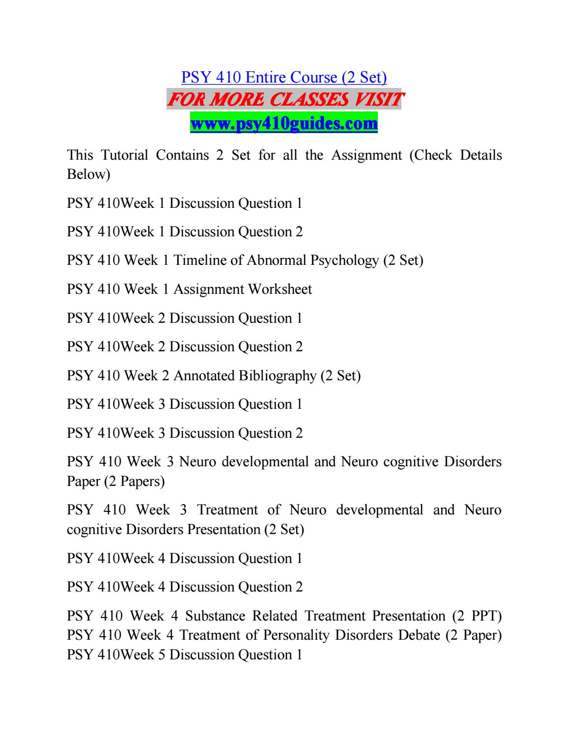 worksheet Psychology Timeline Worksheet psy 410 guides expert study psy410guides com by jonathankillian81 issuu