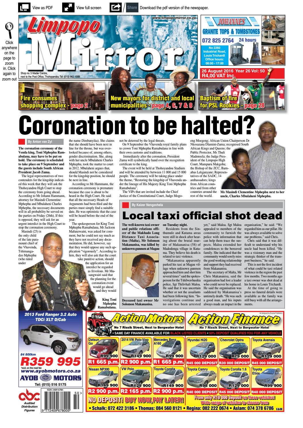 26 August 2016 - Limpopo Mirror by Zoutnet - issuu