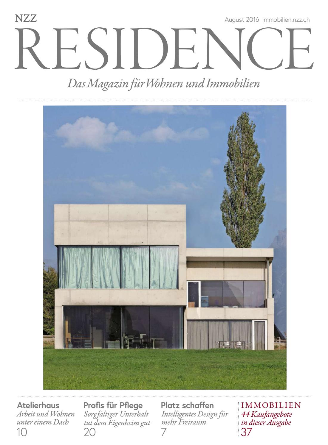 Residence August 2016 by NZZ Residence - issuu
